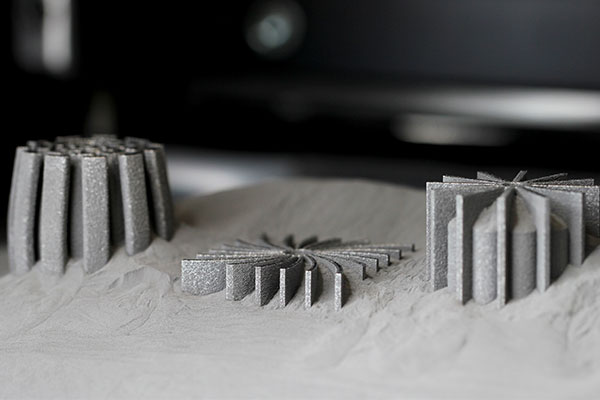 3D Printed Parts Coming Out of the Machine