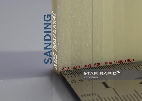 Samples of sanded ABS, Star Rapid finishing services