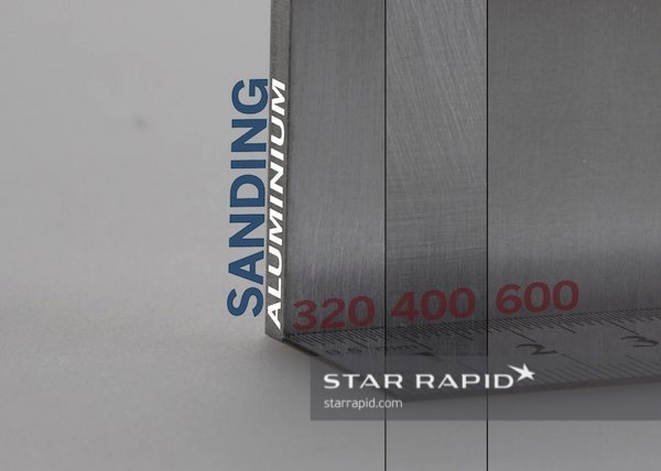Standard sanded aluminum finishes, Star Rapid