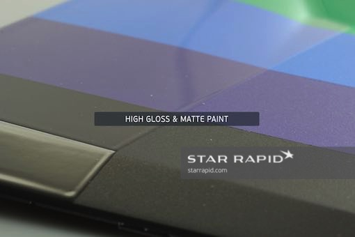 Samples of different paint gloss, Star Rapid finishing services
