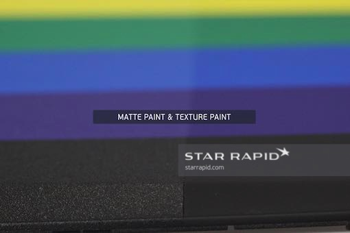 Template of different paint surface textures, Star Rapid