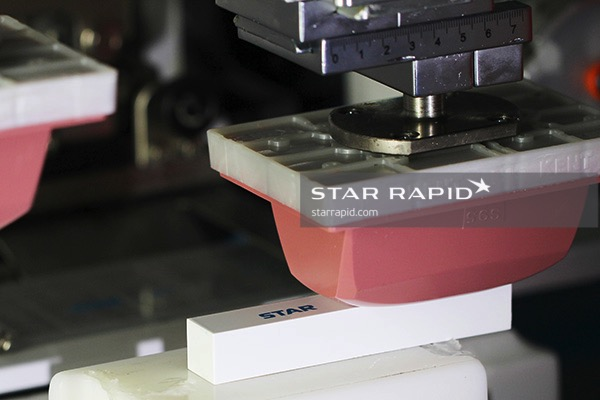Pad printing in Star Rapid's painting room