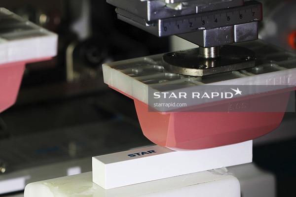 Pad printing in Star Rapid's painting room
