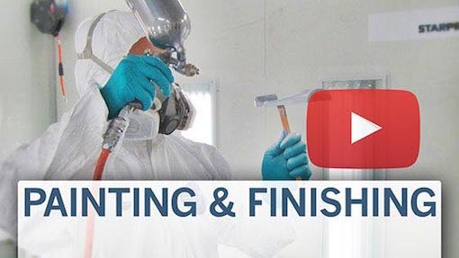 Video link to painting services, Star Rapid finishing
