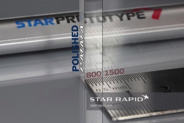 Samples of polished PMMA, Star Rapid finishing services