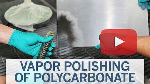 vapor polishing of polycarbonate