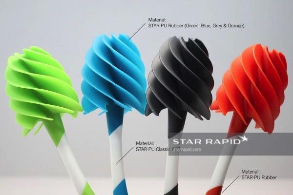 Duku Designs Loo Blade Prototype made with Polyurethane Vacuum Casting