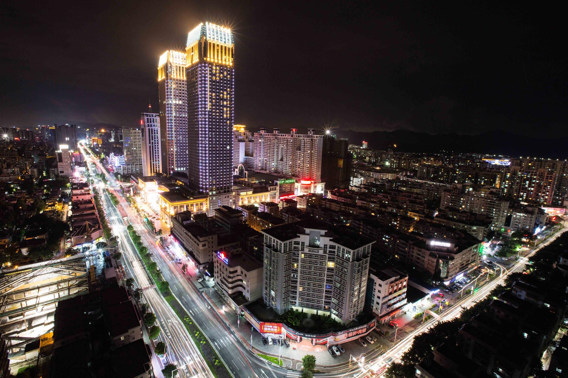 Zhongshan City - Hilton Hotel & LiHe Shopping district