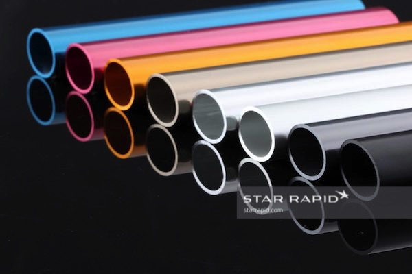 Example of anodizing colors