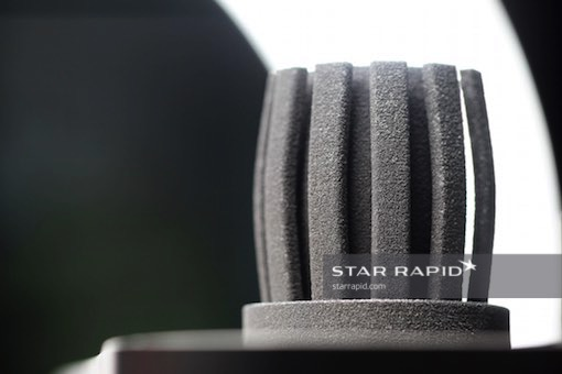 Rough finished metal 3D printed heat sink from Star Rapid