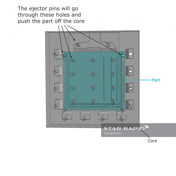 ejector pin 3d drawing