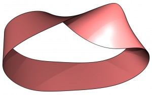 red mobius strip