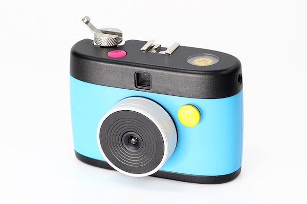 Colorful digital camera prototype made with plastic injection molding
