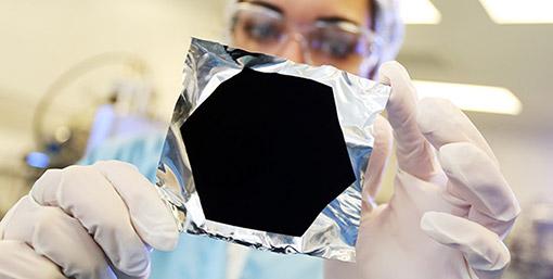 A hexagonall sample of Vantablack