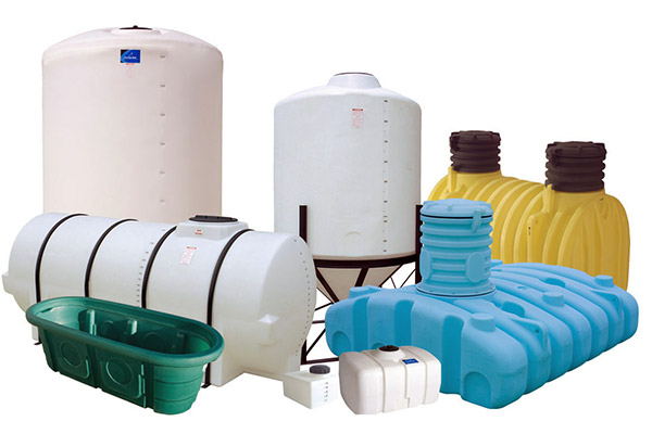 Image of roto-molded plastic vessels