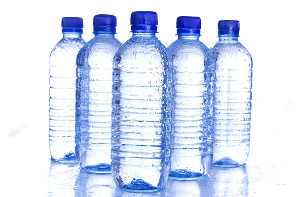 Image of PET water bottles