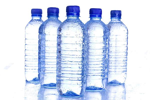 Image of PET water bottles