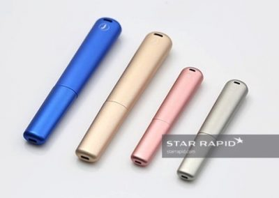 Anodized and Machined Housings for E-Cigarette Prototypes