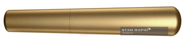 Gold color 3D CAD model of e-cigarette case