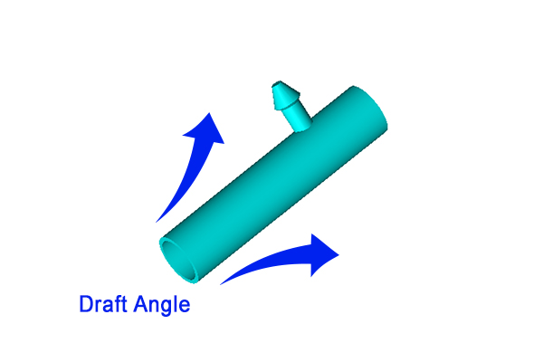 Illustration of draft angle detail at Star Rapid for DFM instruction