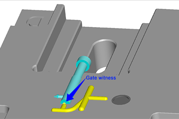 Illustration of gate witness for plastic injection molding at Star Rapid