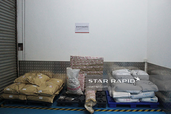 Star Rapid storage area awaiting incoming inspection