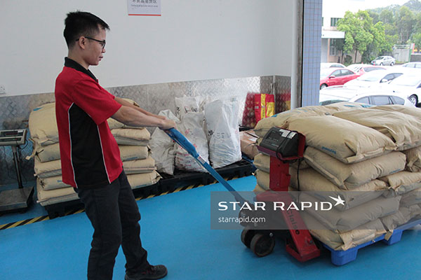 Star Rapid receiving delivery of plastic pellets