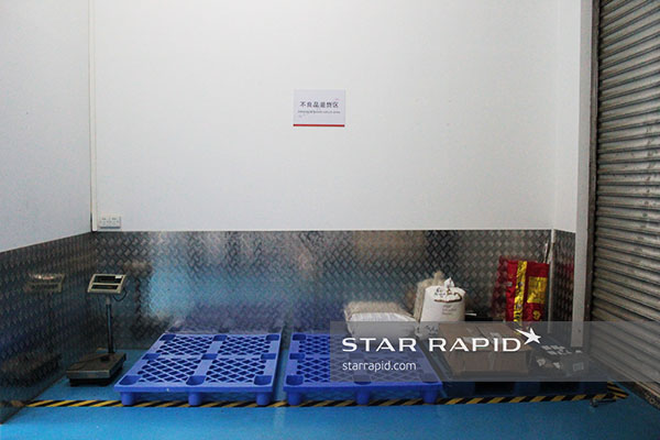 Rejected material in storage at Star Rapid