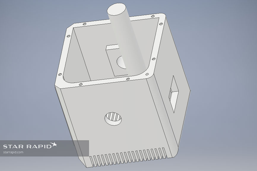 3D CAD model of a part manufacturing