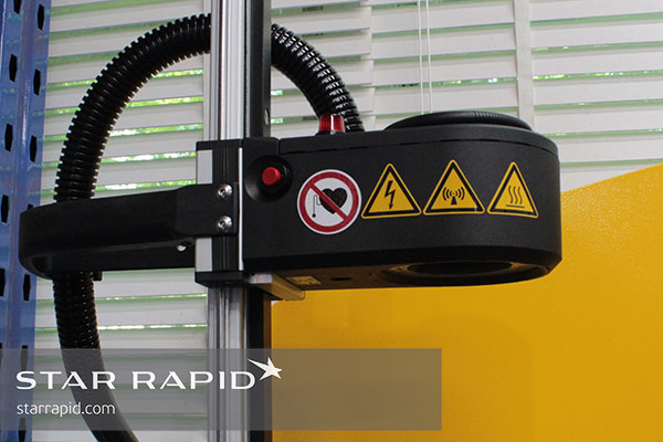 Magnetic coil on heat shrink system used at Star Rapid