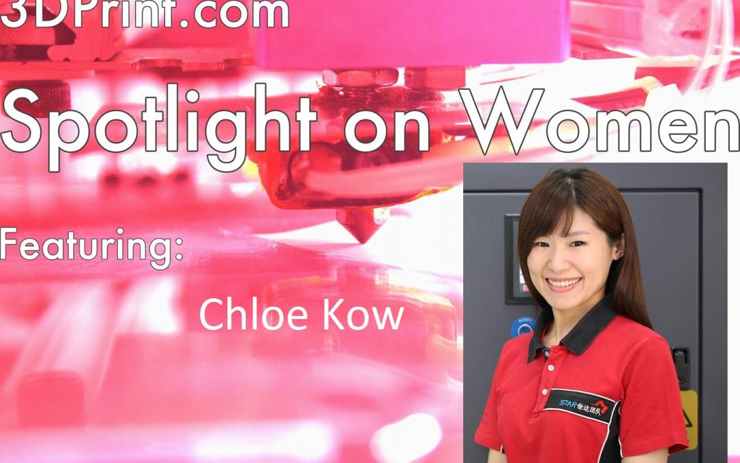 "Chloe Kow Interviewed for ""Spotlight On Women"" in 3DPrint.com"