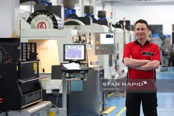 Dave Moir in CNC department at Star Rapid