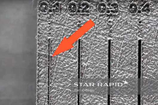 Star Rapid 3D printing design template for gap thickness