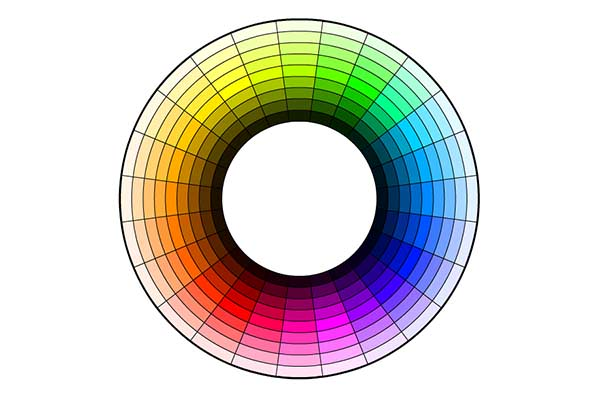 Color wheel showing tint
