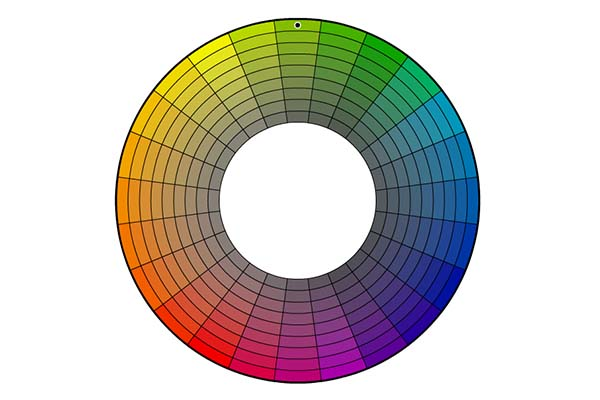 Color wheel showing tone