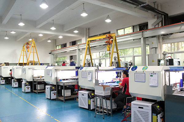 Plastic injection molding machines at Star Rapid