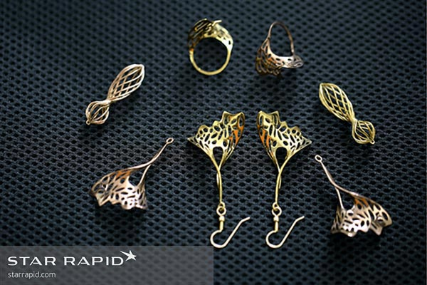 Collection of Veronica Nunes 3D printed jewelry
