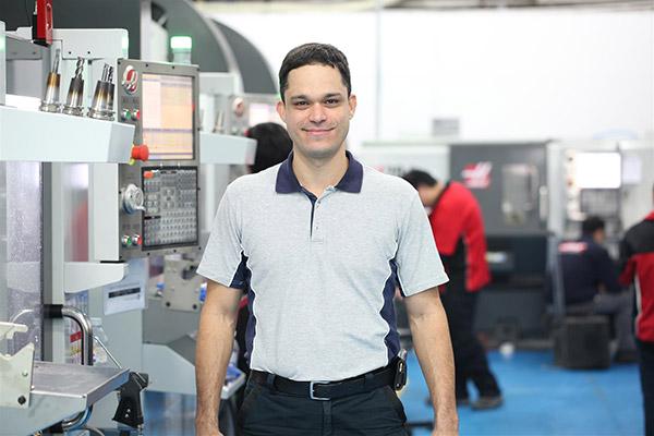 Jon Ross in the workshop