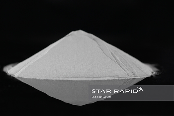 Mound of Renishaw titanium powder for 3D printing