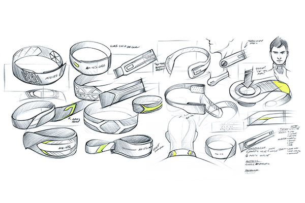 Design sketches for Q-Collar neck brace
