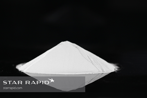 Pile of titanium metal powder used for 3D printing at Star Rapid