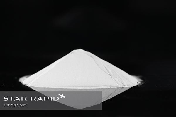 Pile of titanium metal powder used for 3D printing at Star Rapid