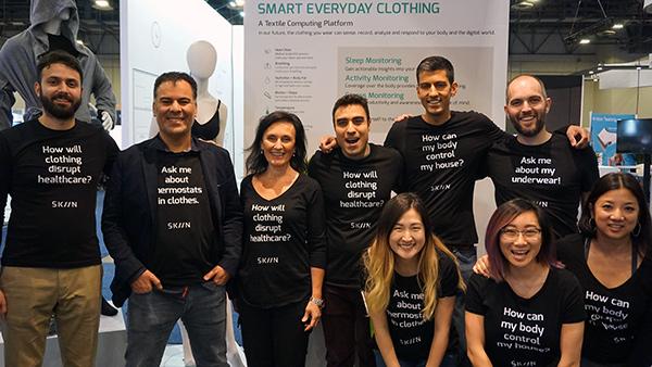 Myant/SKIIN development team at CES 2018.