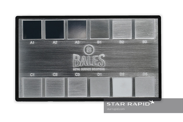 Star Rapid uses surface roughness comparators like these from Bales.
