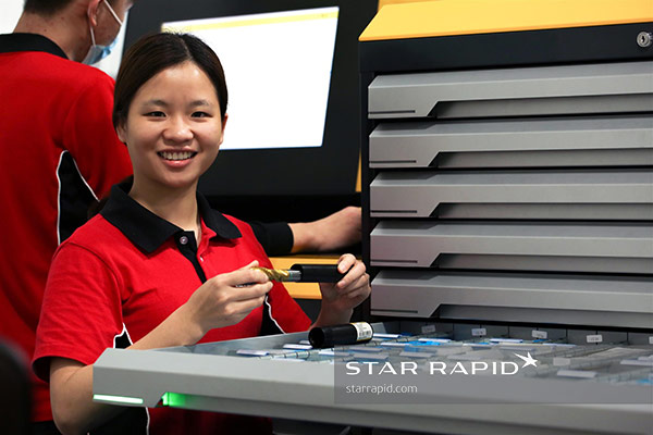 Guhring tool vending machine for CNC cutters, drills and mills at Star Rapid.