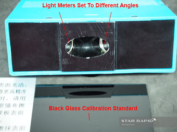 Gloss meter in use at Star Rapid