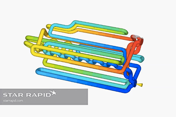 Mold flow analysis of Star Rapid 3D printed conformally cooled mold.