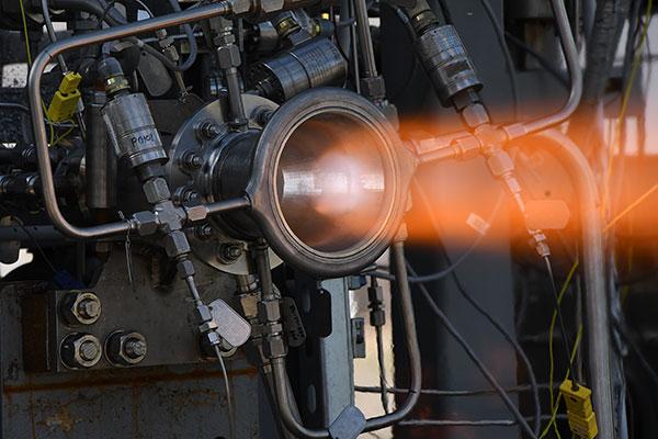 NASA 3D printed jet nozzle undergoing testing