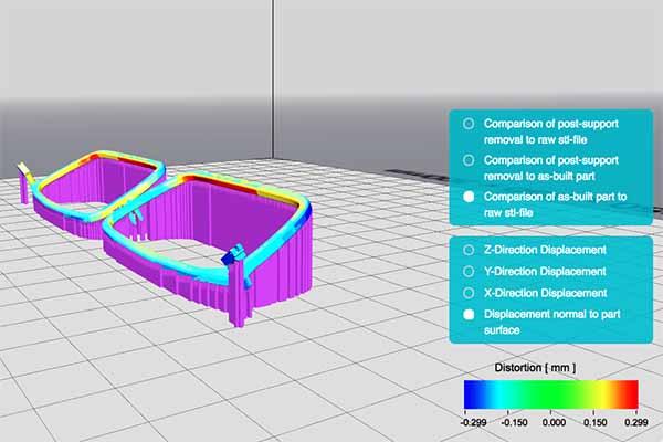 Screen capture of 3D mapped heat zones