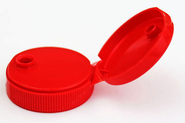 Red polypropylene bottle cap